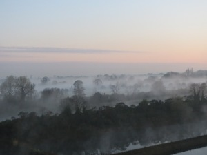 Early morning mist over Home Park
